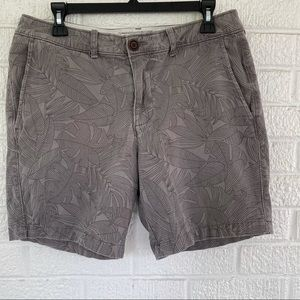 Abercrombie & Fitch Palm Print Shorts Gray Size 32